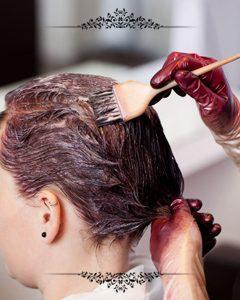 رنگ مو در بهترین آرایشگاه زنانه در مشهد